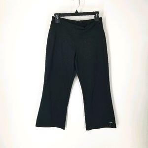 Nike Dri Fit Black Wide Leg Crop Capris Small 4 6